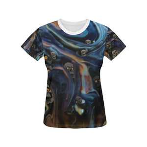A Piece of Hell Women's All Over Print T-shirt (USA Size) (Large Size)