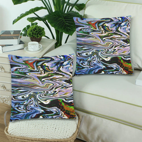 River Convergence Throw Pillow Cover 18