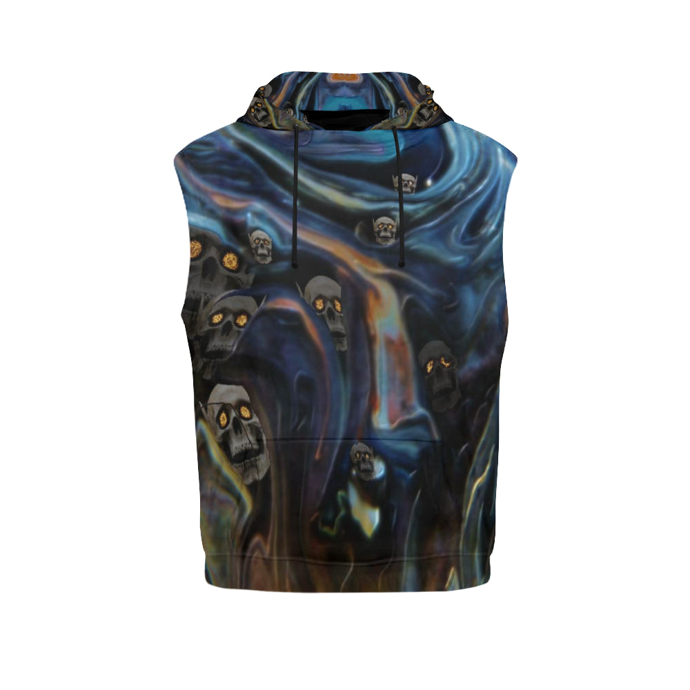 A Piece of Hell Women's All Over Print Sleeveless Hoodie