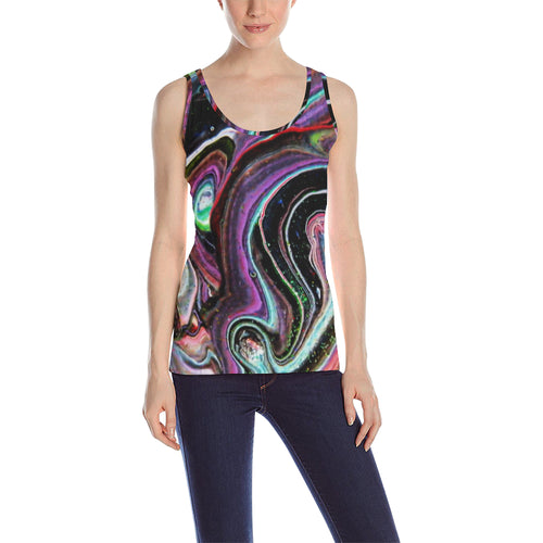 Bright Lines Women's All Over Print Tank Top