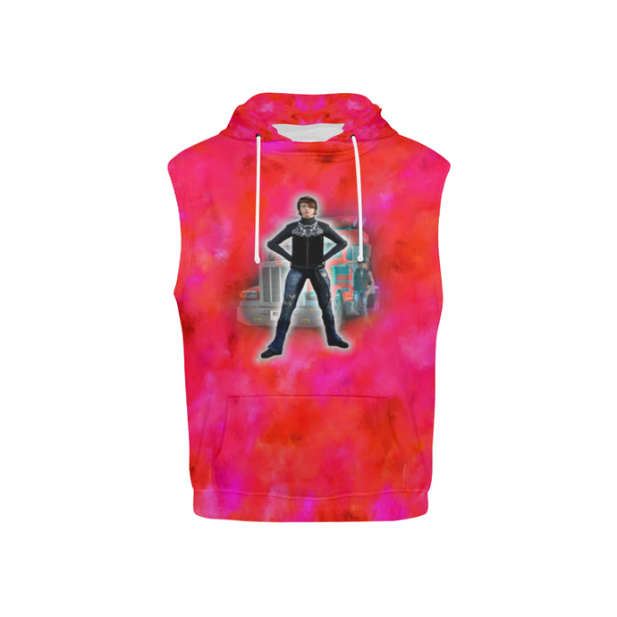Tougher than a Truck Kid's All Over Print Sleeveless Hoodie