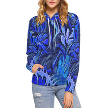 Aurora Florialis Women's All Over Print Hoodie (USA Size)