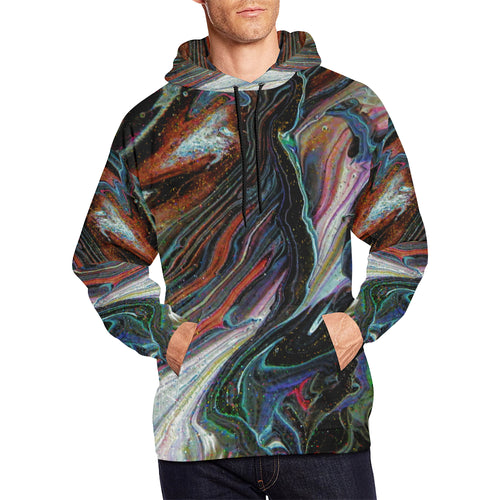 Wonkyverse Men's All Over Print Hoodie Large Size (USA Size)