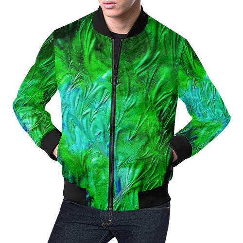 Wild Green Men's All Over Print Casual Jacket