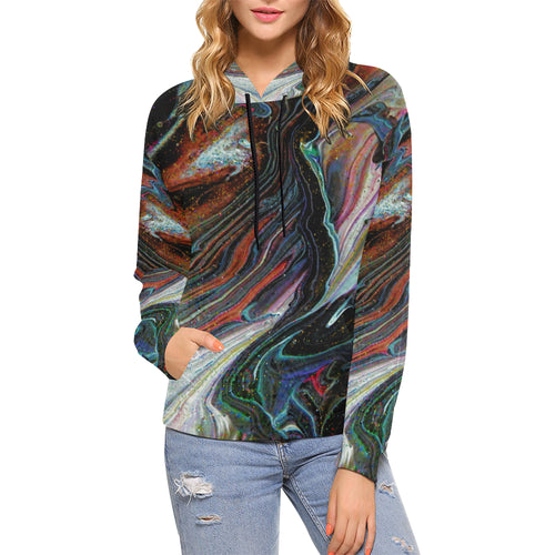 Wonkyverse Women's All Over Print Hoodie (USA Size)