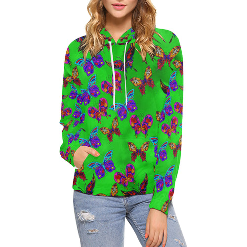 Butterfly Topia Women's All Over Print Hoodie (USA Size)