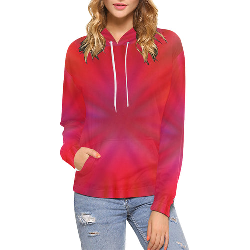 Tropical Flower Women's All Over Print Hoodie (USA Size)