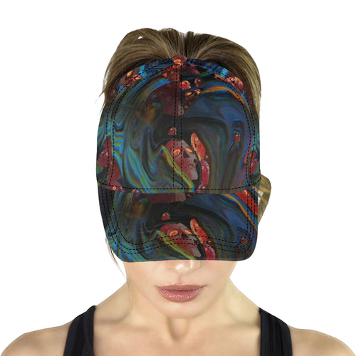 Hells Swirls All Over Print Dad Cap