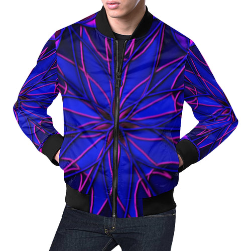 CornFlower Men's All Over Print Casual Jacket