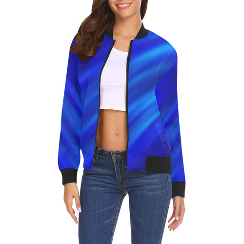 Blue Waves Women's All Over Print Casual Jacket
