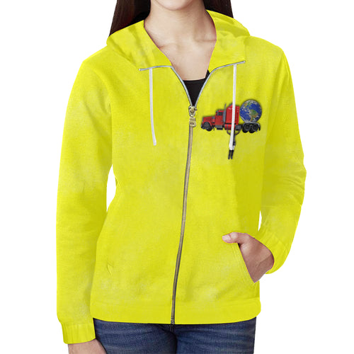 Nothing Crushes Her Women's All Over Print Full Zip Hoodie