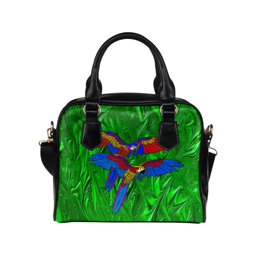 Parrots Double Shoulder Handbag
