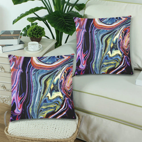 Downward River Throw Pillow Cover 18