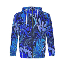 Aurora Florialis Men's All Over Print Full Zip Hoodie (Large Size)