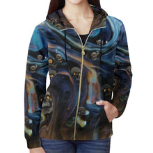 A Piece of Hell Women's All Over Print Full Zip Hoodie