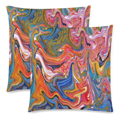 Twirly Swirly Throw Pillow Cover 18