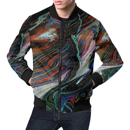 Wonkyverse Men's All Over Print Casual Jacket
