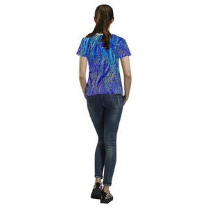 Big Smear Women's All Over Print T-shirt (USA Size) (Large Size)