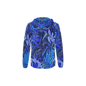 Aurora Florialis Youth All Over Print Full Zip Hoodie