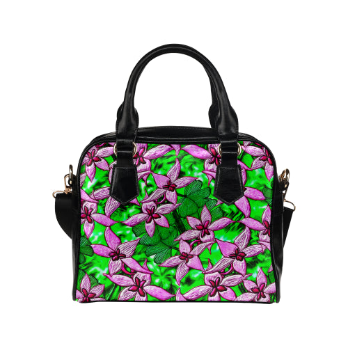Pink Lucky Flowers Shoulder Handbag