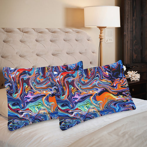 Psychedelic River Rectangle Pillow Case 20