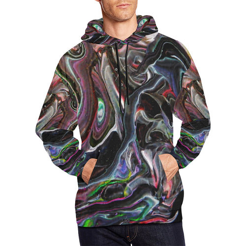 Universe Interrupted Men's All Over Print Hoodie Large Size (USA Size)