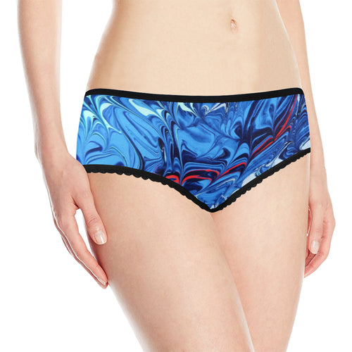 Interrupted Wild Blue Women's All Over Print Classic Briefs