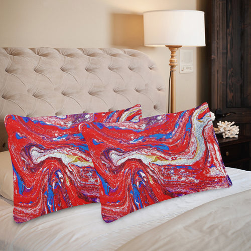 Dominion Red Rectangle Pillow Case 20