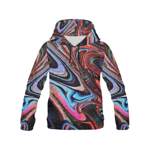 Alien World Men's All Over Print Hoodie Large Size (USA Size)