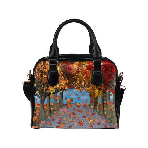 Park in Fall Shoulder Handbag