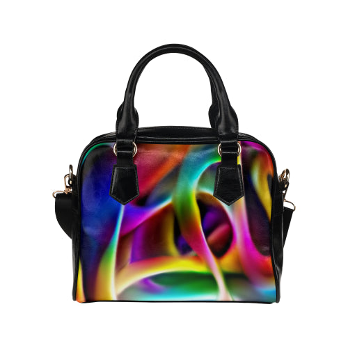 Rainbow Waves Shoulder Handbag