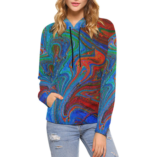 Runny Funny Women's All Over Print Hoodie (USA Size)