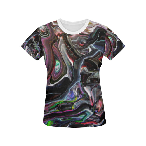 Universe Interrupted Women's All Over Print T-shirt (USA Size)(Large Size)