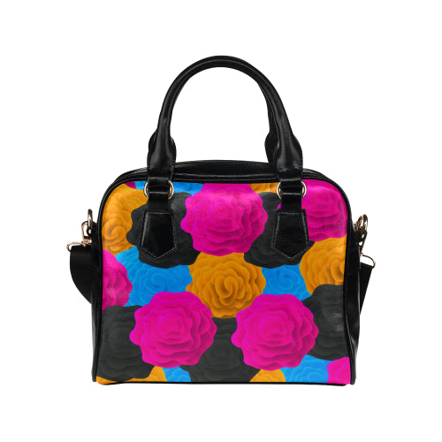 Colorful Roses Shoulder Handbag