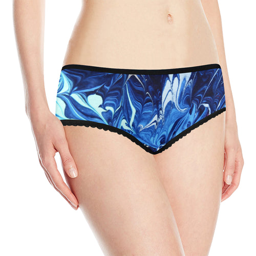 Exploding Blue Women's All Over Print Classic Briefs
