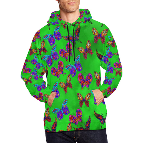 Butterfly Topia Men's All Over Print Hoodie Large Size (USA Size)