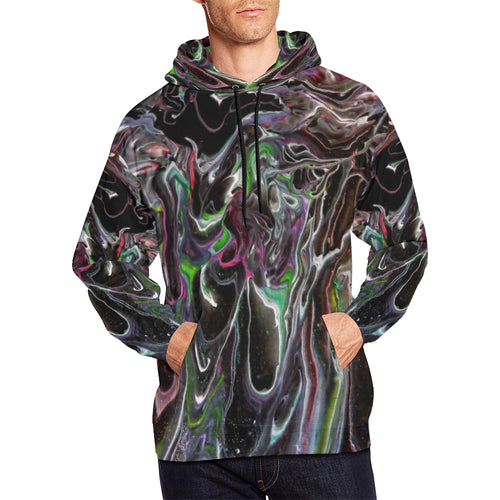 Color Storm Men's All Over Print Hoodie Large Size (USA Size)