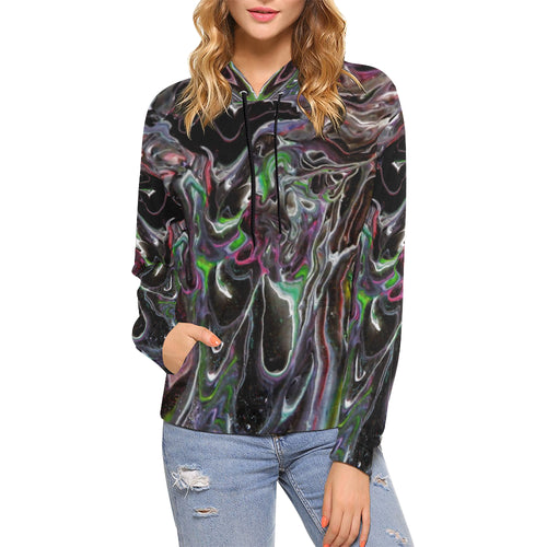 Color Storm Women's All Over Print Hoodie (USA Size)