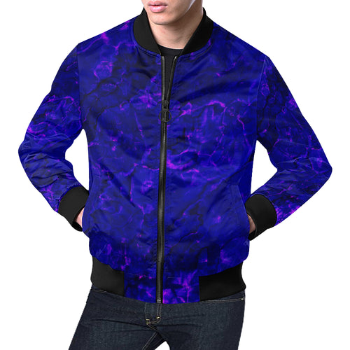 Blue Stones Men's All Over Print Casual Jacket