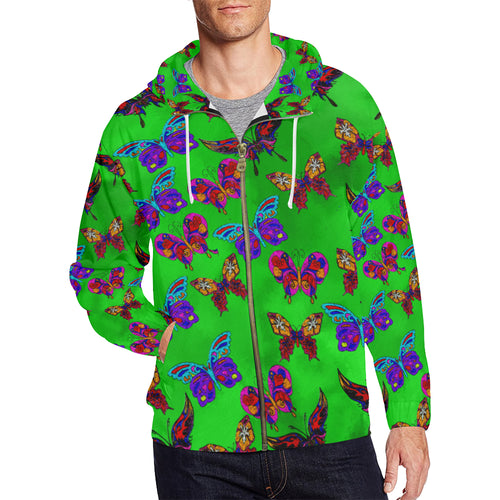 Butterfly Topia Men's All Over Print Full Zip Hoodie
