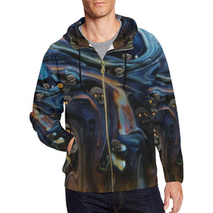 A Piece of Hell Men's All Over Print Full Zip Hoodie (Large Size)