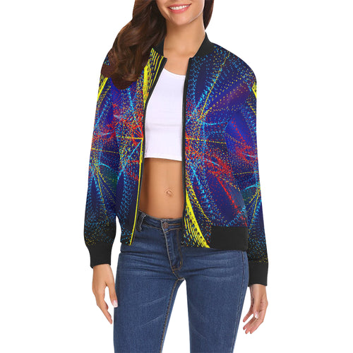 Dotswirl Women's All Over Print Casual Jacket