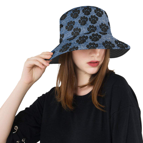 Paw Prints Unisex Bucket Boonie Hat