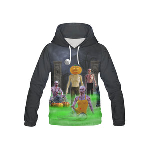Hunters Moon Graveyard Youth All Over Print Hoodie (USA Size)