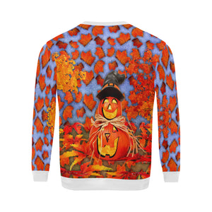 Pumpkin Man Plus-size Men's All Over Print Fuzzy Sweatshirt
