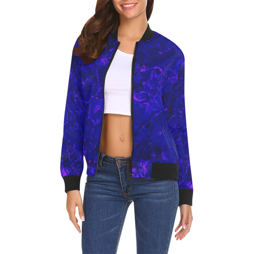 Blue Stones Women's All Over Print Casual Jacket