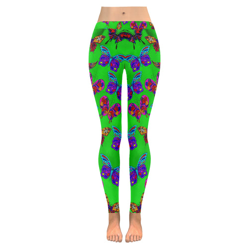 Butterfly Topia All-Over Low Rise Leggings
