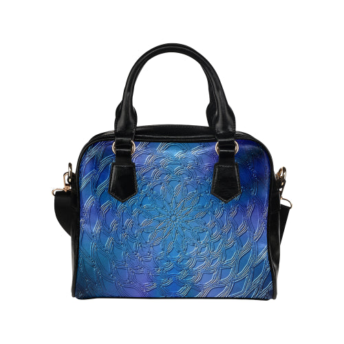 Shimmering Blues Shoulder Handbag