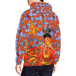 Pumpkin Man Men's All Over Print Hoodie (USA Size)
