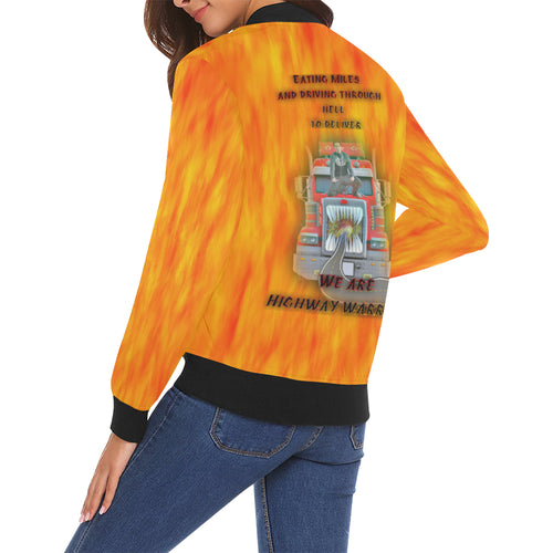 Highway Warrior Women's All Over Print Casual Jacket